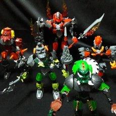 Figuras de acción: LEGO BIONICLE IMPRESIONANTE LOTE 1 FIGURA GRANDE 4 MEDIANAS COLECCIONABLES. Lote 175343412