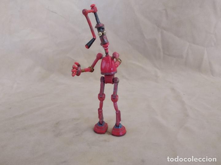 Figuras de acción: Muñeco articulado o de acción de la serie Robots, plástico y metal, unos 18 cms. de alto - Foto 3 - 178865681