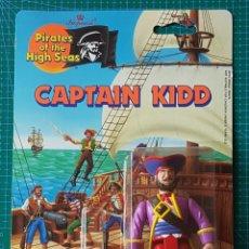 Figuras de acción: CAPTAIN KIDD -PIRATES OF THE HIGH SEAS / IMPERIAL TOYS 1990 /FIGURA ARTICULADA / PIRATA CAPITÁN. Lote 179080315