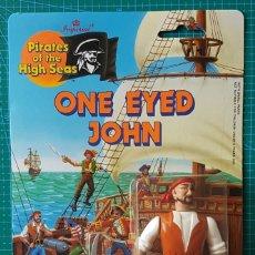 Figuras de acción: ONE EYED JOHN (JEAN LAFITTE) -PIRATES OF THE HIGH SEAS/IMPERIAL TOYS 1990/FIGURA ARTICULADA/PIRATA. Lote 179080565