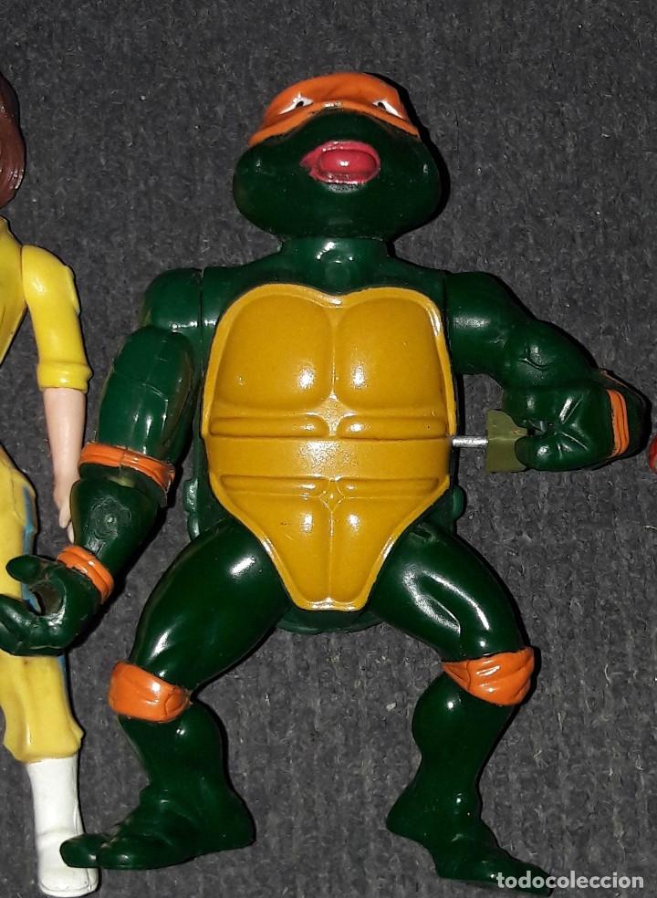 Figuras de acción: Lote de figuras Tortugas Ninja Raphael Michelangelo April O'Neil año 1989 - Foto 3 - 180247121