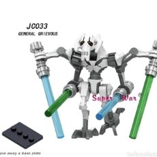 Figuras de acción: MINIFIGURA COMPATIBLE CON LEGO STAR WARS GENERAL GRIEVOUS NUEVO EN BOLSA SELLADA FIGURA MUÑECO. Lote 181145296
