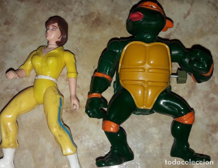 Figuras de acción: Lote de figuras Tortugas Ninja Raphael Michelangelo April O'Neil año 1989 - Foto 5 - 180247121