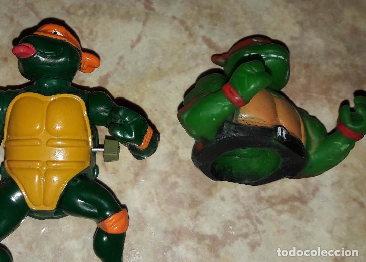 Figuras de acción: Lote de figuras Tortugas Ninja Raphael Michelangelo April O'Neil año 1989 - Foto 6 - 180247121
