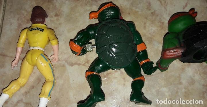 Figuras de acción: Lote de figuras Tortugas Ninja Raphael Michelangelo April O'Neil año 1989 - Foto 7 - 180247121