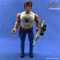 Figuras de acción: FIGURA RAMBO + ARMA - ANABASIS AÑO 1985 . Lote 182580641