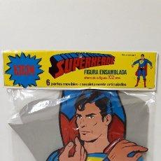 Figuras de acción: SUPERHEROE - SUPERMAN . FIGURA ENSAMBLADA Y ARTICULADA CON 6 PARTES MOVILES EN CARTON ALTURA 102 CM. Lote 183192622