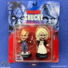 Figuras de acción: PACK 2 FIGURAS CHUCKY Y TIFFANY- BRIDE OF CHUCKY COMPLETO EN CAJA-UNIVERSAL - AÑO 1998 - GORE-TERROR. Lote 186710540