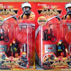 Figuras de acción: LOTE FIRE RESCUE / PEOPLE'S HEROES NEW STYLES / FIRE NEMESIS. PRECINTADO. FABRICADO EN CHINA.. Lote 190120161