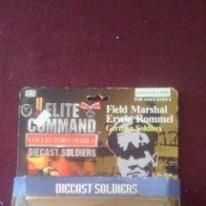 Figuras de acción: ERWIN ROMMEL, SOLDADOS II GUERRA MUNDIAL, ELITE COMMAND , DIECAST SOLDIERS, NUEVOS EN CAJA. CC. Lote 190977872