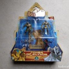 Figuras de acción: 4 FIGURITAS POWER OF EGYXOS. EN BLISTER CERRADO. Lote 194561058
