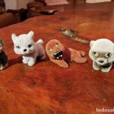 Figuras de acción: 4 ANIMALES DE TERCIOPELO, FOCA, MAPACHE, MONITO, LINCE. Lote 197569247