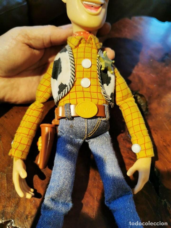 Figuras de acción: Figura Woody en trapo, hablador en ingles, Disney/pixar Thinkway funciona - Foto 4 - 198920793