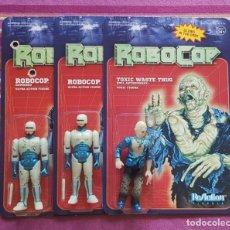 Figuras de acción: PACK ROBOCOP BATTLE DAMAGED + ROBOCOP + EMIL ANTONOWSKY (GLOW IN THE DARK) REACTION SUPER7. Lote 200785470