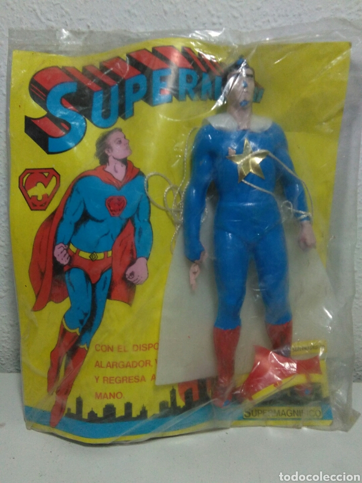 Figuras de acción: Figura superman bootleg en su blister sin abrir original de epoca - Foto 5 - 202355330