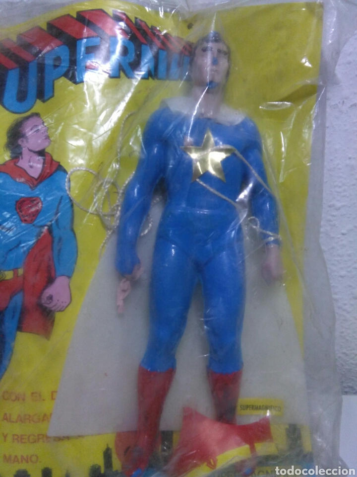 Figuras de acción: Figura superman bootleg en su blister sin abrir original de epoca - Foto 7 - 202355330