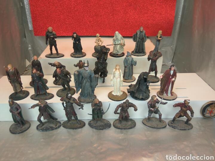 FIGURAS PLOMO EL SEÑOR DE LOS ANILLOS NLP 2004-2005 LOTE DE 26 (Juguetes - Figuras de Acción - Otras Figuras de Acción)