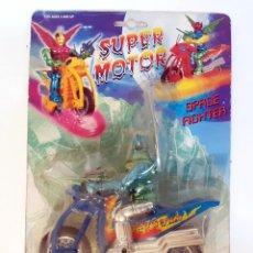 Figuras de acción: FIGURA MANGA SUPER MOTO SPACE FIGHTER FIGURA CON MOTO DE FRICCION. Lote 207757561
