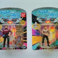 Figuras de acción: LOTE 2 FIGURAS STAR TREK -COMMANDER RIKER Y ROMULAN - ( NO STAR WARS ) - BANDAI - - ERICTOYS. Lote 214003310