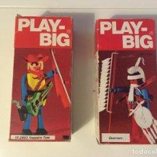 Figurines d'action: DOS FIGURAS EN CAJA PLAY BIG - VAQUERO TOM Y GUERRERO INDIO REFERENCIAS:17-2003/ 17-1004 - PLAYBIG. Lote 214301823