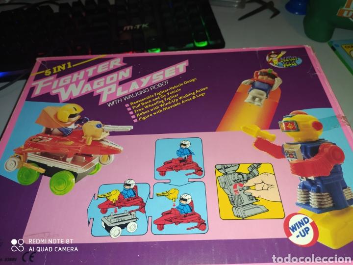 Figuras de acción: Fighter Wagon Playset Dragon Toys VG .AÑOS 80. En blister sin abrir - Foto 4 - 215479636