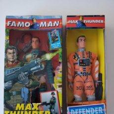 Figuras de acción: LOTE 2 FIGURAS FAMOMAN Y MAX THUNDER DE FAMOSA, LEER DETALLE!!! - ERICTOYS. Lote 216677900