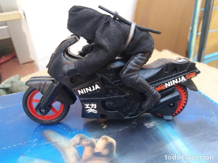 MOTO NINJA NINJA RIDER MOTO A FRICCION AÑOS 80 FIGURA ACCION BOOTLEG OCHENTERO NINJA (Juguetes - Figuras de Acción - Otras Figuras de Acción)