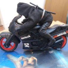 Figuras de acción: MOTO NINJA NINJA RIDER MOTO A FRICCION AÑOS 80 FIGURA ACCION BOOTLEG OCHENTERO NINJA. Lote 236101470