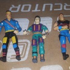 Figuras de acción: LOTE 3 FIGURAS LANARD 1990 SIMILAR A GIJOE. Lote 218170397