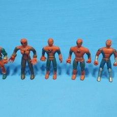 Figuras de acción: LOTE DE 5 FIGURAS DE SPIDERMAN EN GOMA BOOTLEG. Lote 219056940