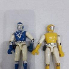 Figuras de acción: FIGURA BIOMAN AZUL DELFIN Y LEON AMARILLO 1988 BANDAI TOEI. Lote 220797871