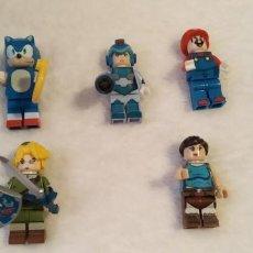 Figuras de acción: LOTE LEGO COMPATIBLE VIDEOJUEGOS MEGAMAN ZELDA SONIC MARIO FIGURAS NUEVAS A ESTRENAR. Lote 220951858