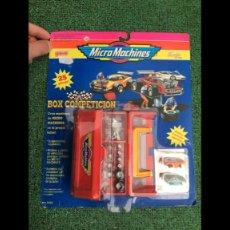 Figuras de acción: MASTERS LOTE BLISTER ESPAÑOL PRECINTADO BOX COMPETICION MICRO MACHINES.DIFICILISIMO.MUY BUSCADO. Lote 221005182