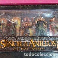 Figuras de acción: EL SEÑOR DE LOS ANILLOS LAS DOS TORRES LA BATALLA EN EL ABISMO DE HELM. Lote 221631226