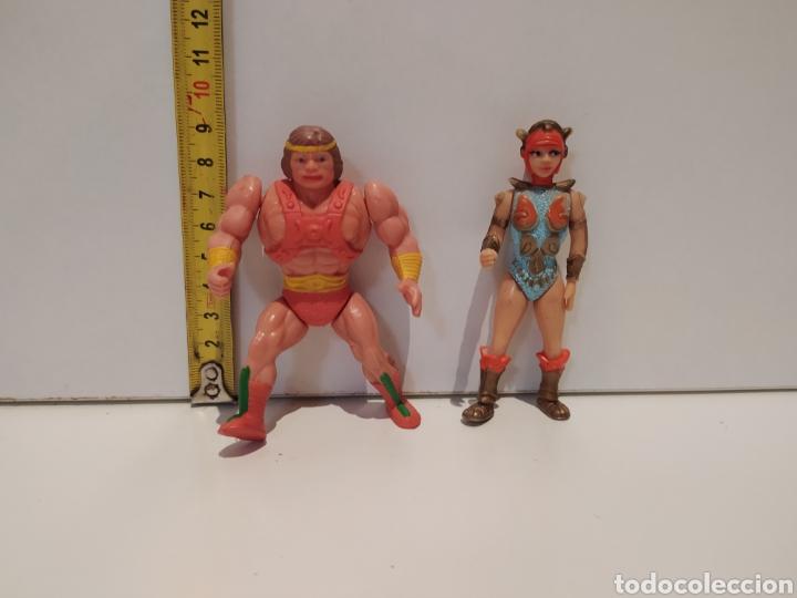 Figuras de acción: Muñecos muy raros He-man y Teela bootleg - Foto 2 - 226136815
