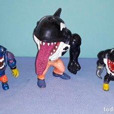 Figuras de acción: FIGURAS DE STREET SHARKS ORCA ORIGINAL Y DOS BOOTLEG DE LA MISMA SERIE. Lote 227042790