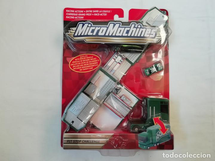 MICROMACHINES RACING ACTION PIT STOP CHALLENGE - HASBRO 2002 - NUEVO - NEW - RARE (Juguetes - Figuras de Acción - Otras Figuras de Acción)