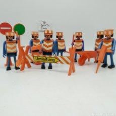 Figuras de acción: PLAYBIG LOTE DE OPERARIOS DE LA CONSTRUCCIÓN, JUGUETE AÑOS 70 (EN ESPAÑA SE VENDIÓ COMO CEFA BOYS). Lote 236040495