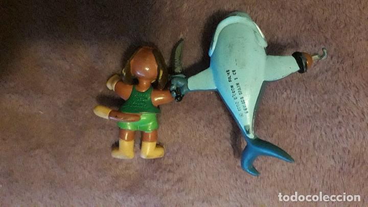 Figuras de acción: Delfi lote 2 figuras vintage goma pvc Comics Spain - Foto 2 - 246018585