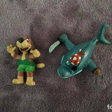 Figuras de acción: DELFI LOTE 2 FIGURAS VINTAGE GOMA PVC COMICS SPAIN. Lote 246018585