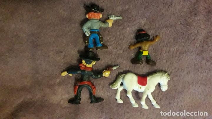 Figuras de acción: Lucky Luke lote 8 figuras vintage goma pvc - Foto 2 - 246020365