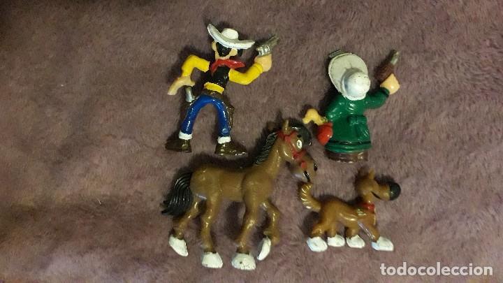 Figuras de acción: Lucky Luke lote 8 figuras vintage goma pvc - Foto 4 - 246020365