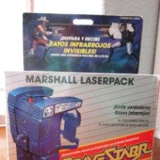 Figuras de acción: BRAVESTARR. BRAVE STARR STAR. MARSHALL LASERPACK. LASER PACK COLOR AZUL. 1988 MATTEL. [NUEVO]. Lote 246819630