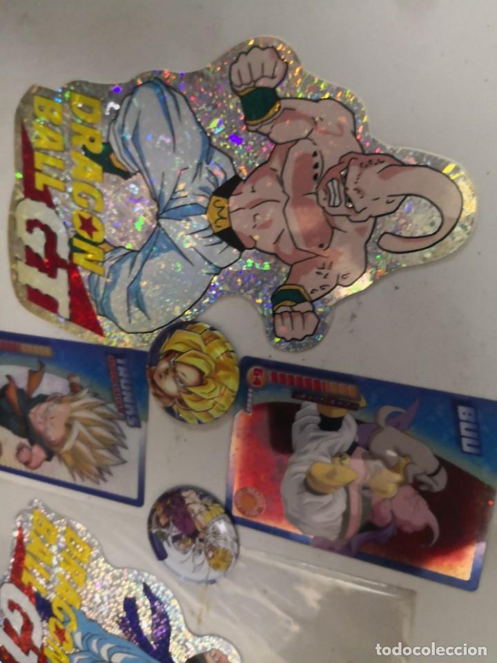 Figuras de acción: Pack 6 PIEZAS dragon BALL ( 2 ADHESIVOS, 2 CHAPAS Y 2 CARTAS) - Foto 3 - 253433245