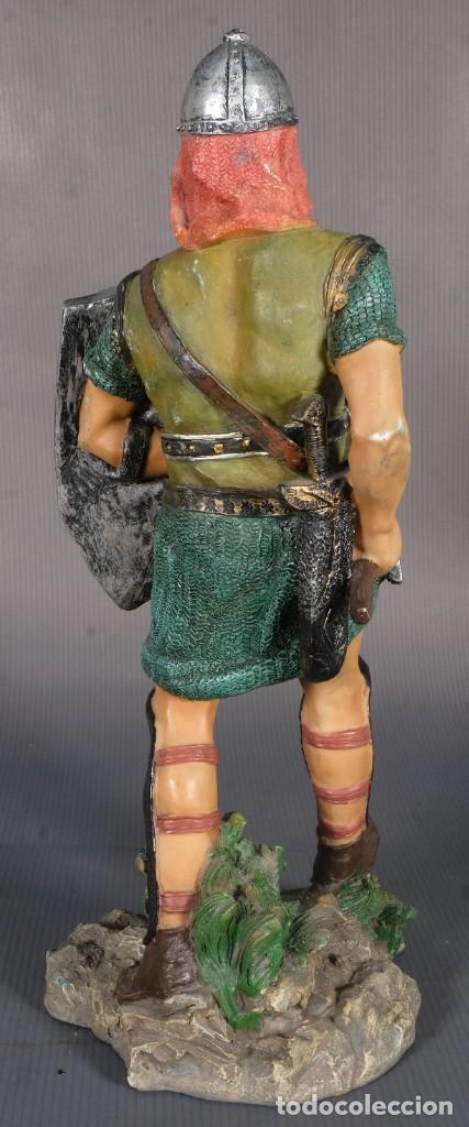 Figuras de acción: Figura de Vikingo en resina - 31 cm x 13 cm - Foto 3 - 268454434