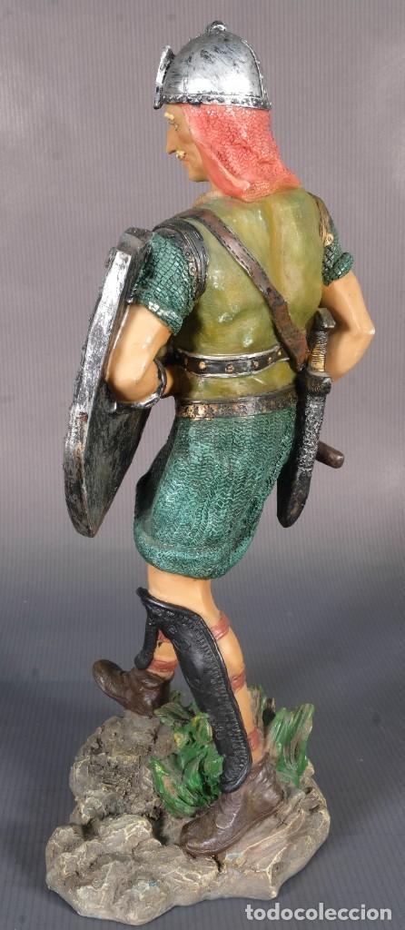 Figuras de acción: Figura de Vikingo en resina - 31 cm x 13 cm - Foto 4 - 268454434