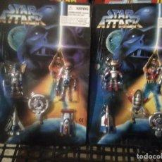 Figuras de acción: 2 BLISTER FIGURAS STAR ATTACK TIPO GUERRA DE LAS GALAXIAS ATAQUE GUERREROS EL ESPACIO EXTERIOR. Lote 277303148