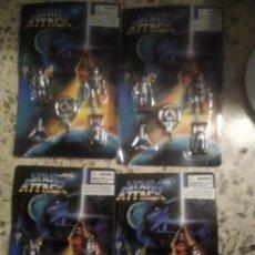 Figuras de acción: 4 BLISTER FIGURAS STAR ATTACK TIPO GUERRA DE LAS GALAXIAS ATAQUE GUERREROS EL ESPACIO EXTERIOR. Lote 277303223