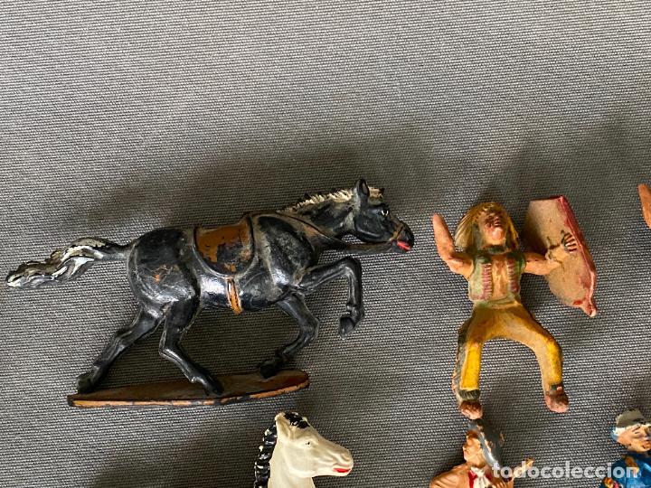 Figuras de acción: LOTE DE INDIOS Y VAQUEROS . ANTIGUOS , PLASTICO , PASTA , GOMA - Foto 6 - 278357583