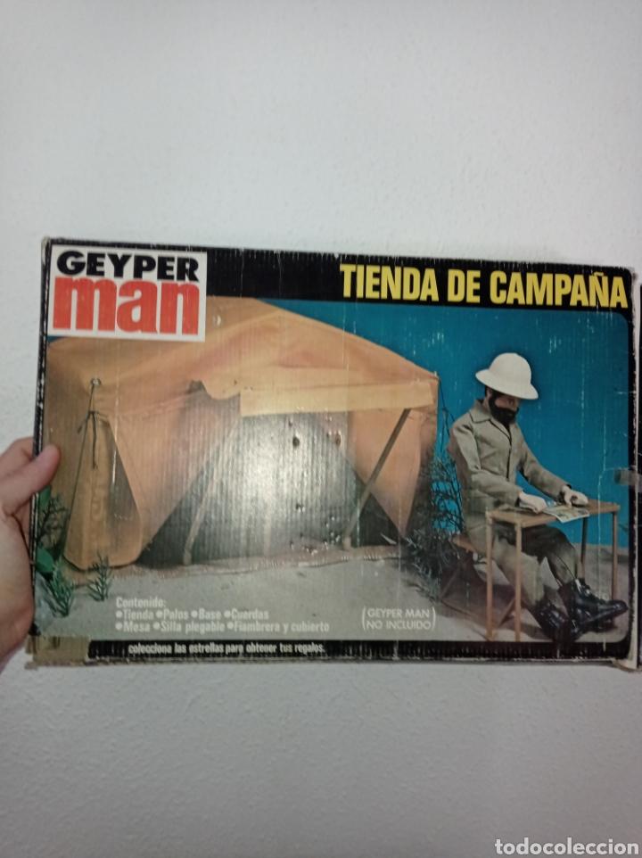 CAJA VACÍA GEYPERMAN. TIENDA DE CAMPAÑA, REF. 7400, 1°EPOCA, 1975. (Juguetes - Figuras de Acción - Otras Figuras de Acción)